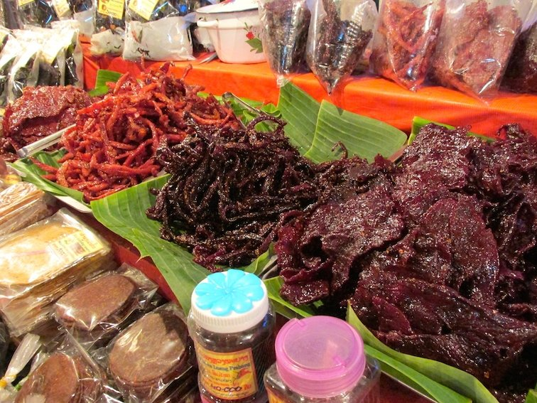 IMG_8731Amazing Food at the Luang Prabang Night Market in Laos Meat
