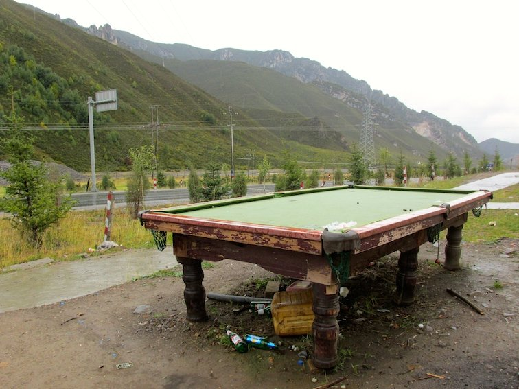 Tibet Road Trip to Huzhu Beishan Park Pool Table