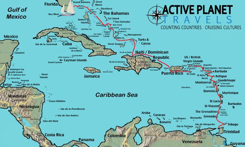 Sailing the Caribbean Itinerary