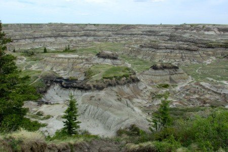 Canada Badlands Canyon