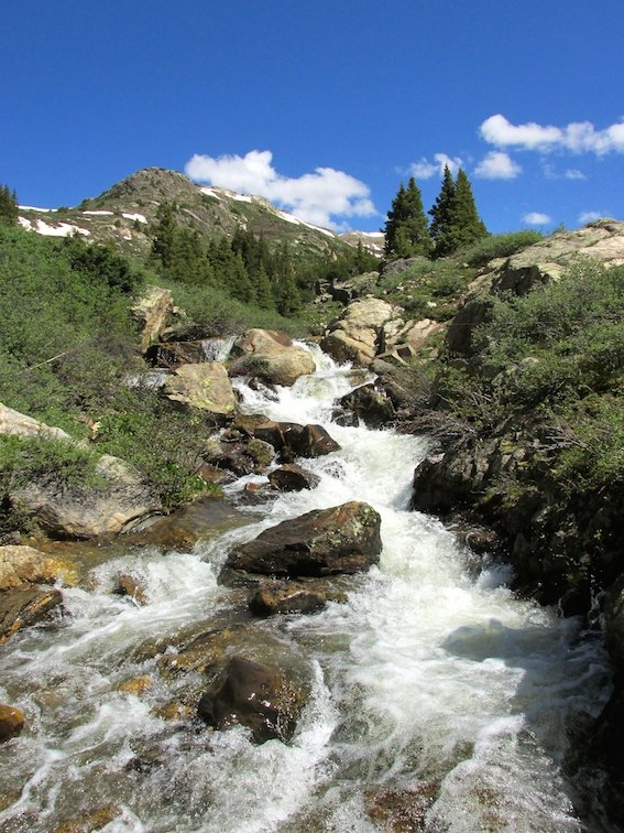 Independence Pass Continental Divide Aspen Colorado USA River Creek Waterfall