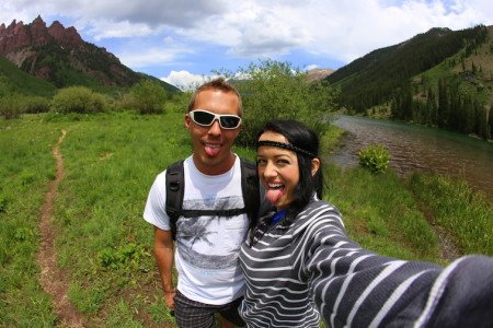 Maroon Bells Aspen Colorado USA Anna Kate Legendary Adventures of Anna Hiking Backpacking Selfie