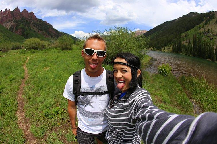 Maroon Bells Aspen Colorado USA Anna Kate Legendary Adventures of Anna Hiking Backpacking Selfie