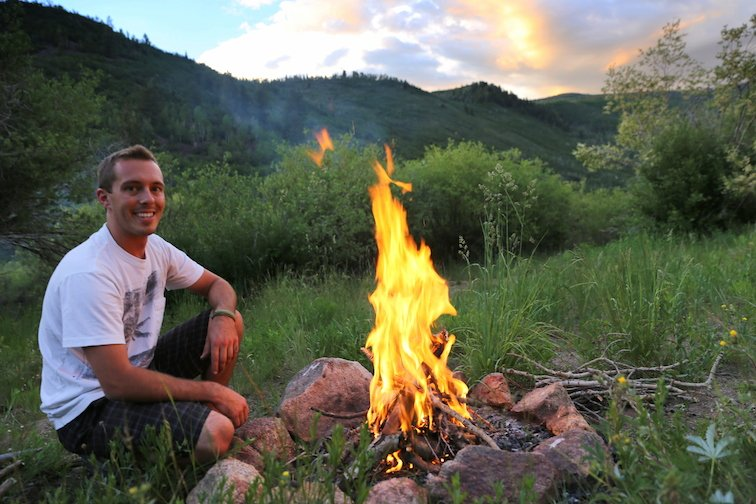 Campfire Aspen Colorado Hiking Backpacking Camping