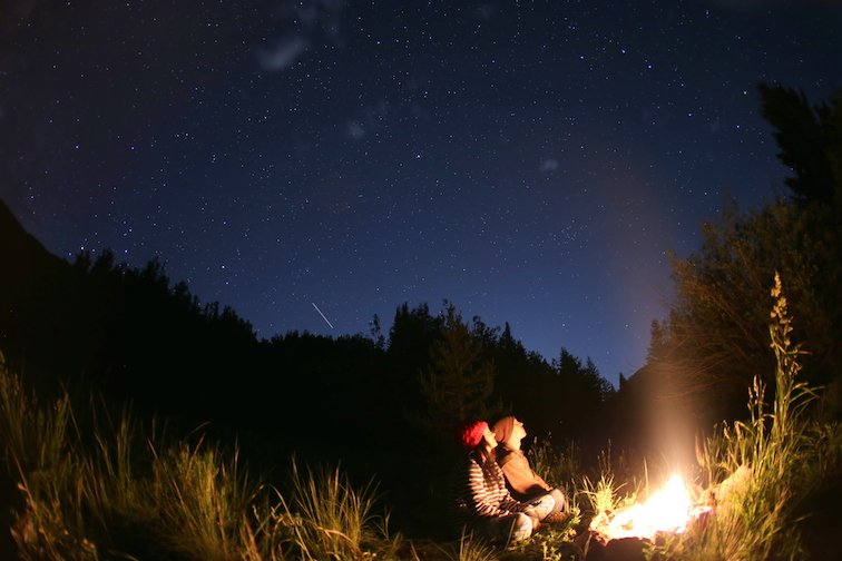 Campfire Aspen Colorado Hiking Backpacking Camping Stars Night Stargazing