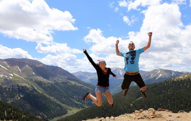 Independence Pass Continental Divide Aspen Colorado USA River Creek Jump Shot Candid Legendary Adventure of Anna Kate