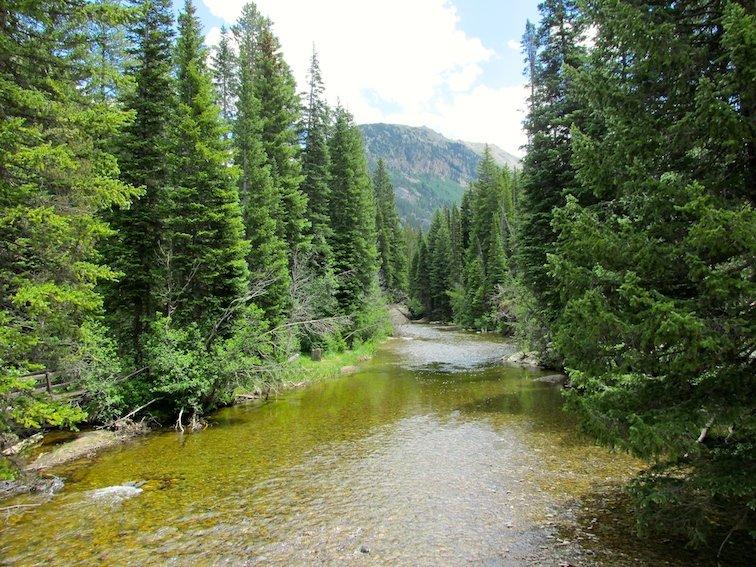 Independence Pass Continental Divide Aspen Colorado USA River Creek