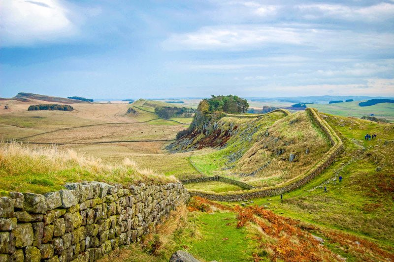 Hadrian's Wall Hiking London England UK United Kingdom Field