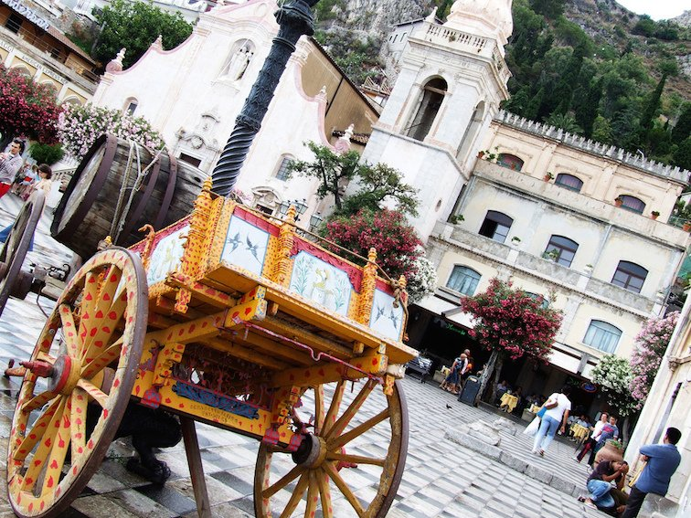 Taormina Main Square Sicily Italy