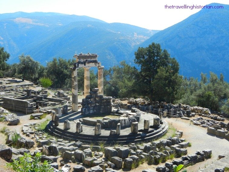 Athena Pronaia Sanctuary in Delphi Greece