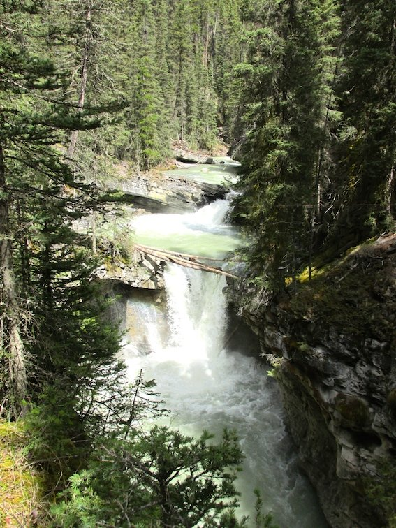 Hiking Banff Johnston Canyon Trail Canada Alberta Waterfall River Creek