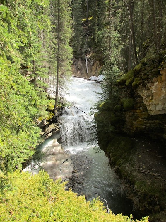 Hiking Banff Johnston Canyon Trail Canada Alberta River Creek Waterfall