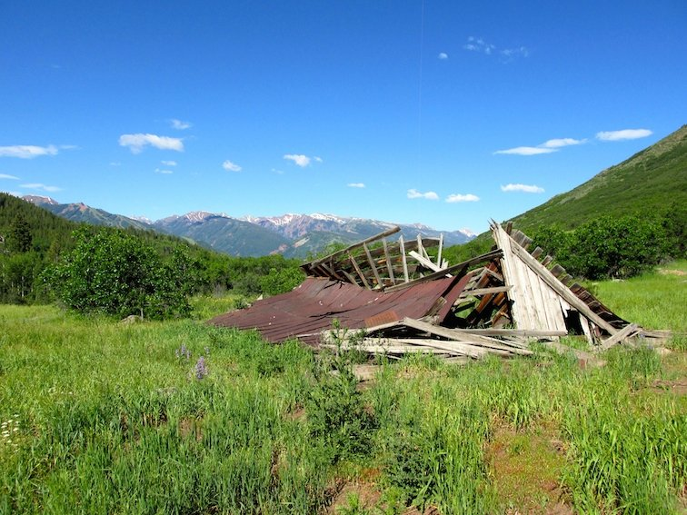 Backpacking Old House Aspen Colorado