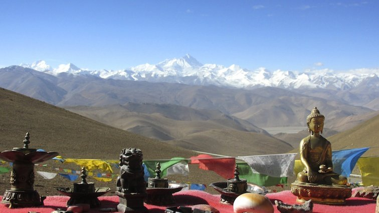 Tibet Everest China Lhasa Buddha Statue Mountains