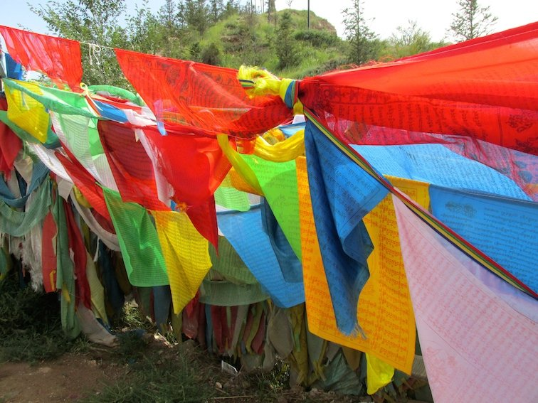 Exploring the Beichan Daoist Temple of Xining, China Buddhism Tibetan Prayer Flags