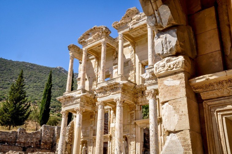 Turkey Ephesus library of Celsus Travel Addicts
