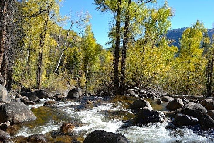 Colorado Aspen Mountain Hiking Autumn Fall Trail