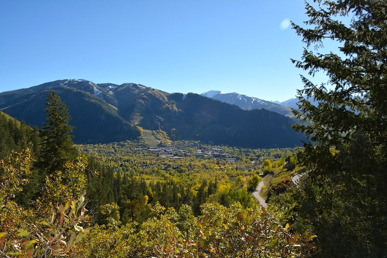 Colorado Aspen Mountain Hiking Autumn Fall Trail Scenic Overlook