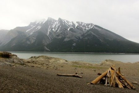 Banff National Park Alberta Canada Lake Minnewanka Ghost