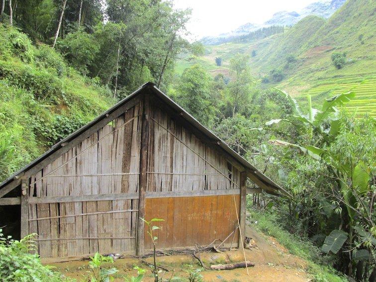 Sapa Vietnam Rice Fields Southeast Asia Barn Wood