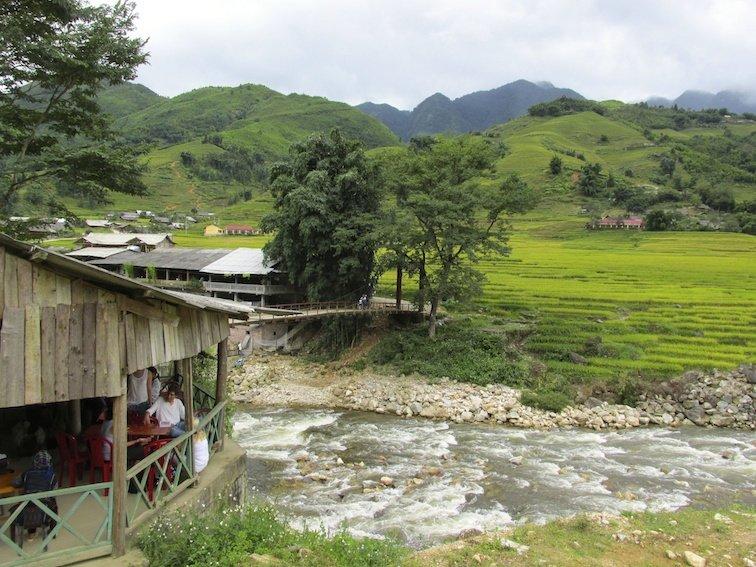 Sapa Vietnam Rice Fields Southeast Asia River Village