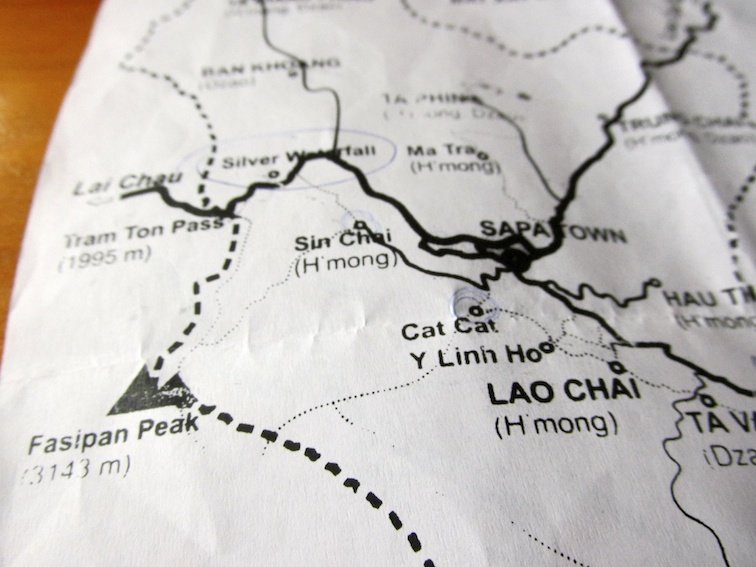 Sapa Vietnam Rice Fields Southeast Asia Map Village Lao Chai