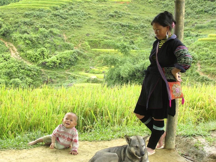 Sapa Vietnam Rice Fields Southeast Asia Guide Walk Hike Baby mother