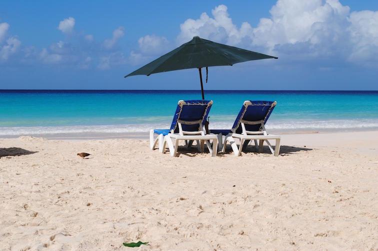 Barbados Caribbean Island Beach Lounge Chairs