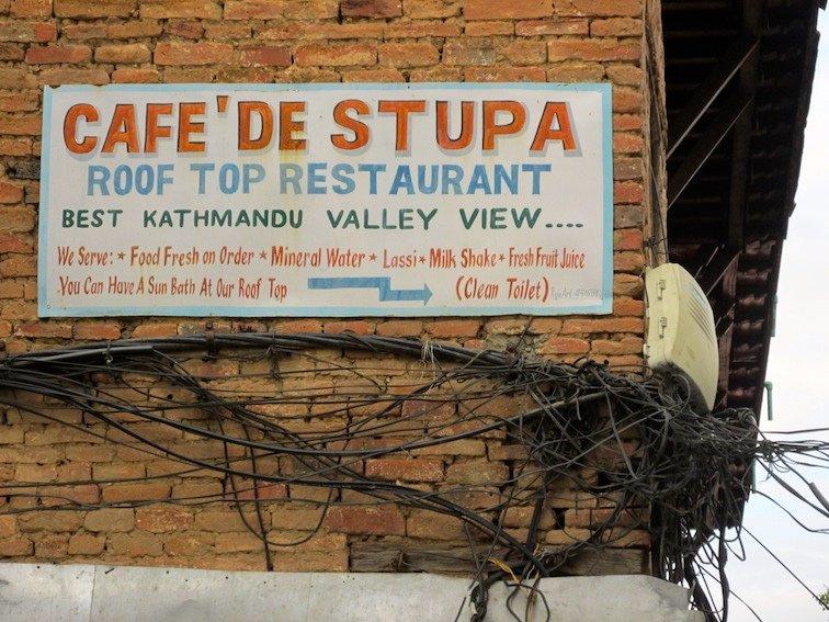 Swayambhumath Monkey Temple Kathmandu Nepal Cafe Stupa