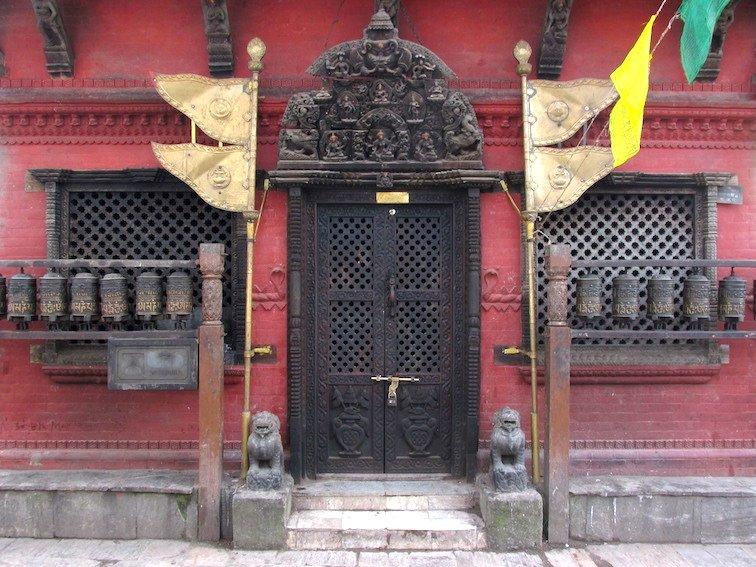 Swayambhumath Monkey Temple Kathmandu Nepal Door