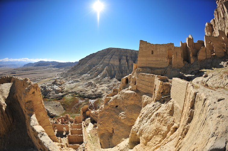 Ruins of Guge Kingdom Tibet China Asia Temple
