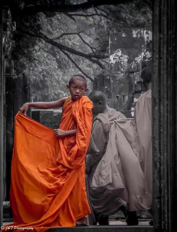 Cambodia Child monk portrait