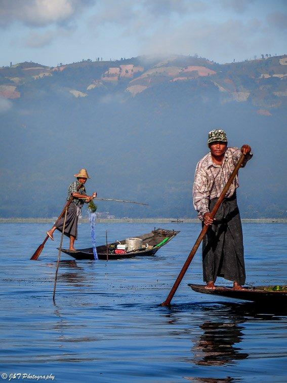 Myanmar fisherman portrait