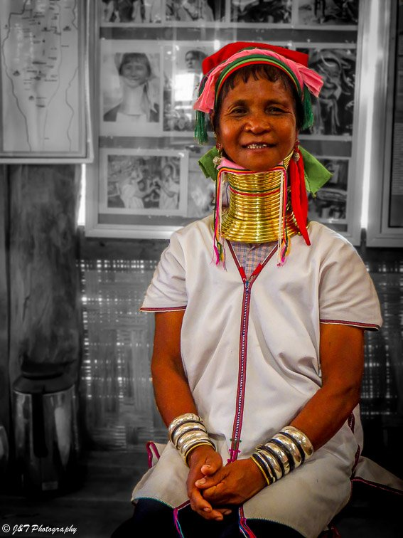 Myanmar long neck woman portrait