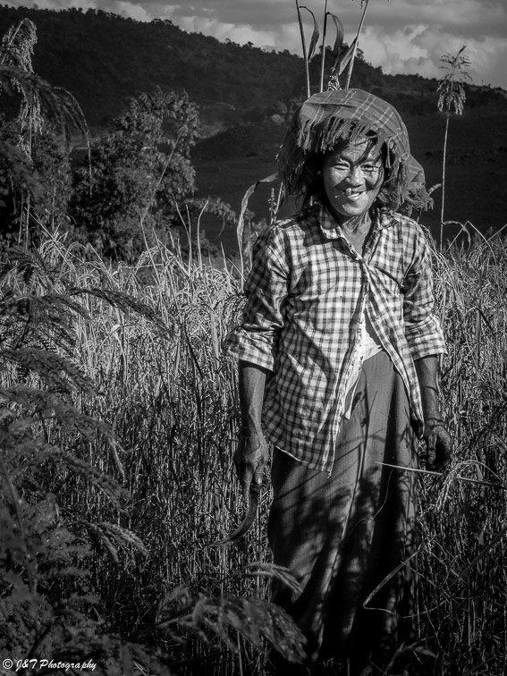 Myanmar farm woman portrait