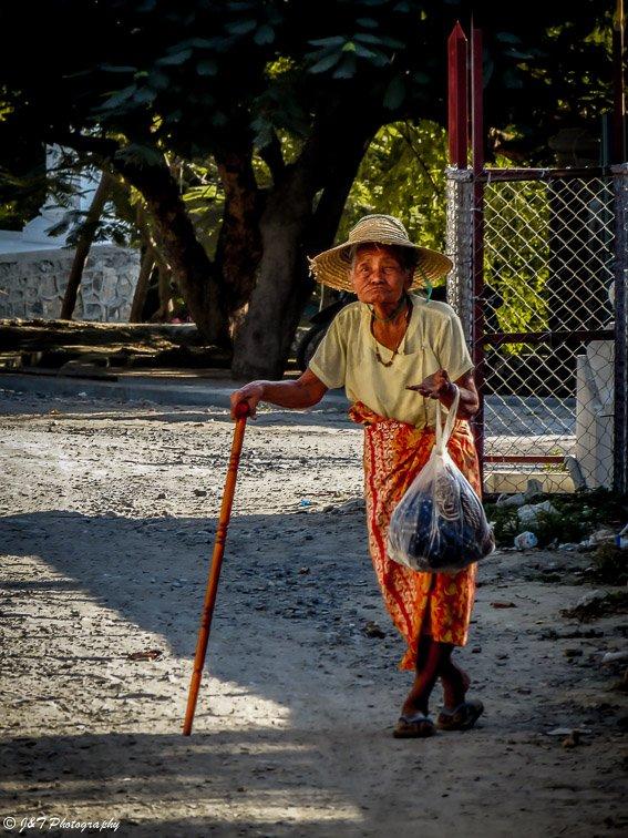 Myanmar old woman portrait