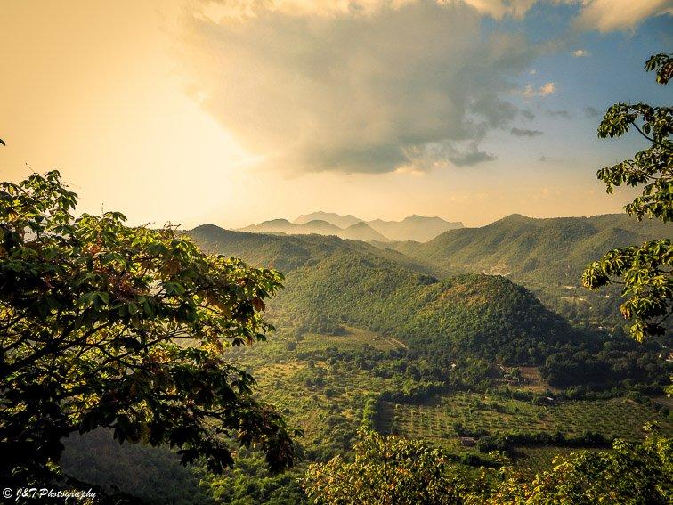 Myanmar train country mountain view