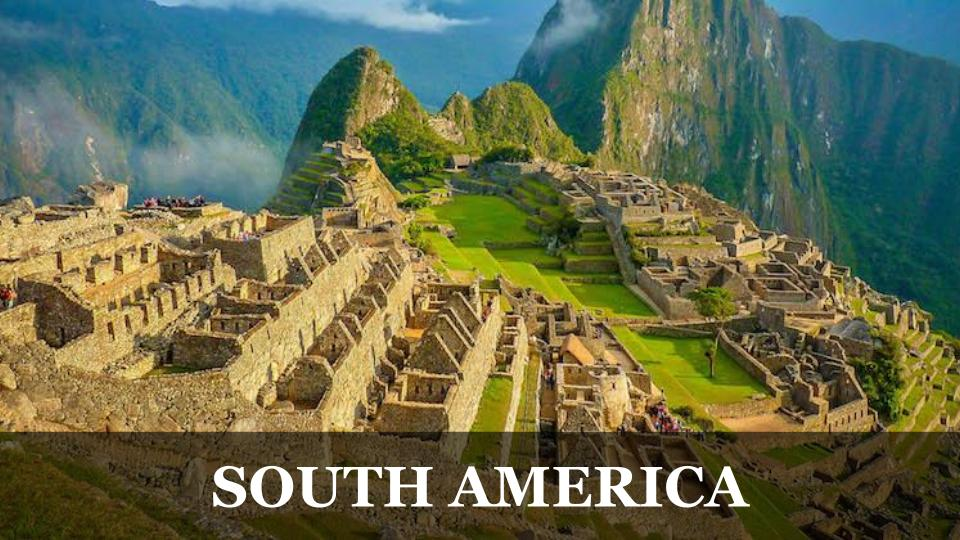 Travel Around the World RTW to South America