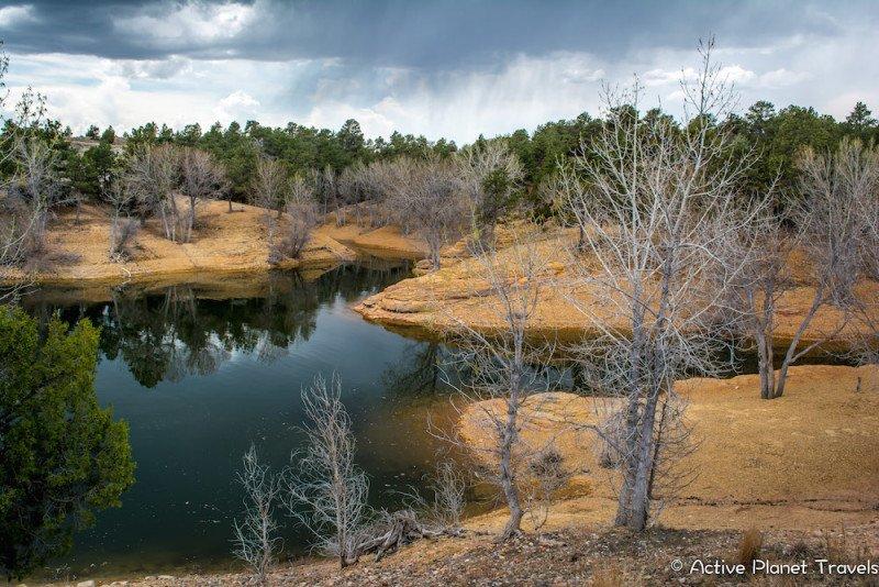 Glendo State Park Wyoming Lake Red Rock Water Rain