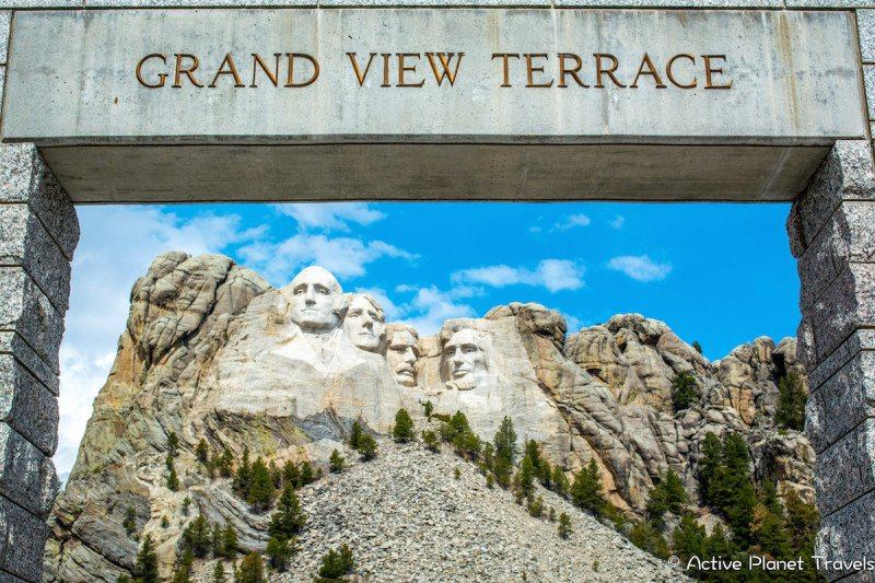 Mount Rushmore South Dakota Black Hills National Park Grand View Terrace