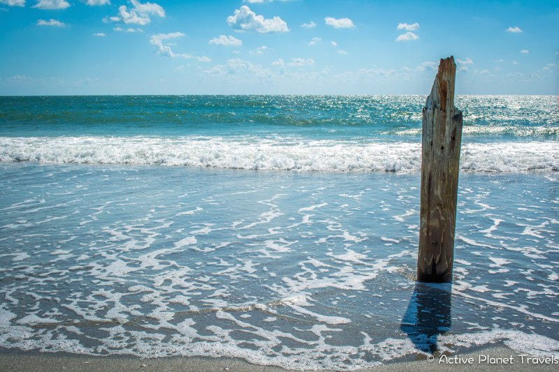 Clearwater Beach Florida Ocean Sea Post
