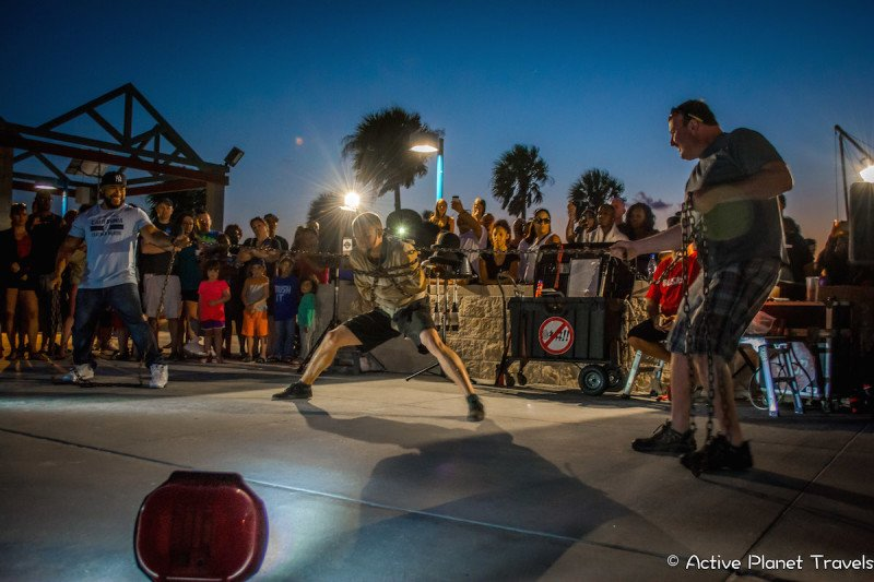 Clearwater Beach Florida Ocean Sea Street Performer Nightlife Pier