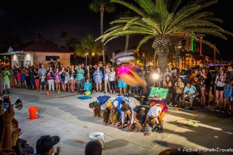 Clearwater Beach Florida Ocean Sea Street Performer Nightlife Pier