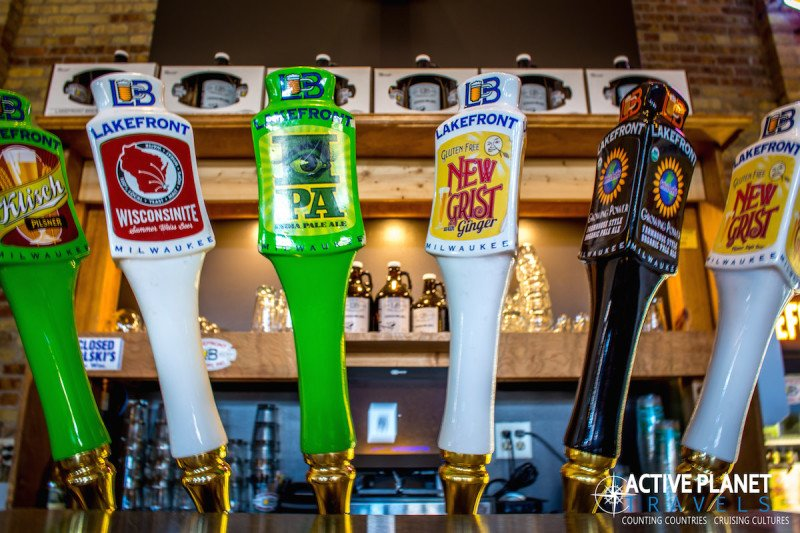 Lakefront Brewery Tour Milwaukee Wisconsin Beer Tap