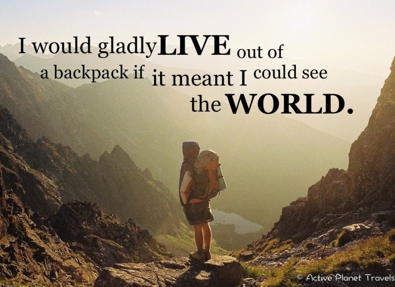 Inspirational Travel Quotation - Travel the World