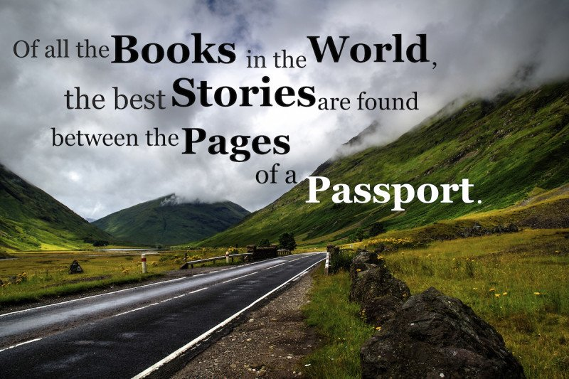 One line quote about travel and your passport.
