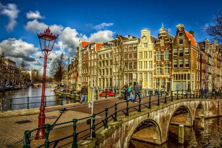 Amsterdam, Canal, Buildings, City, Bridge