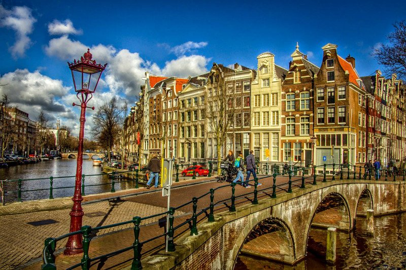 Amsterdam, Canal, Buildings, City, Bridge, Netherlands