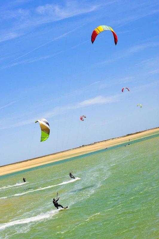 Algarve Portugal Outdoors Kitesurfing kite surfing Mediterranean Sea Beach