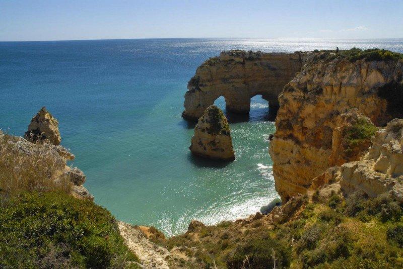 Algarve Portugal Outdoors Coast Coastline Ocean Mediterranean